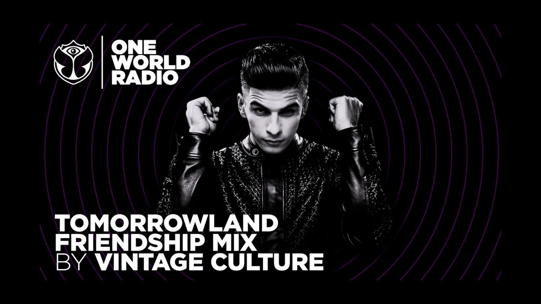 O Tomorrowland Friendship Mix vai ao ar toda semana com um set exclusivo de um DJ convidado na One World Radio